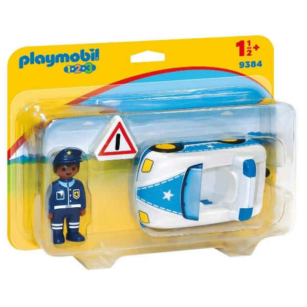 Playmobil Police Car With Trailer Hitch