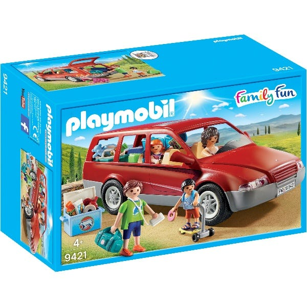 Playmobil Family Car With Trailer Hitch