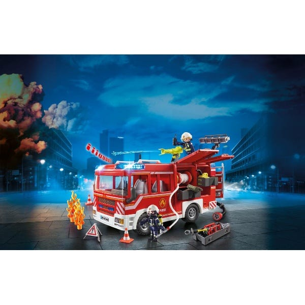 Playmobil Fire Engine With Working Water Cannon