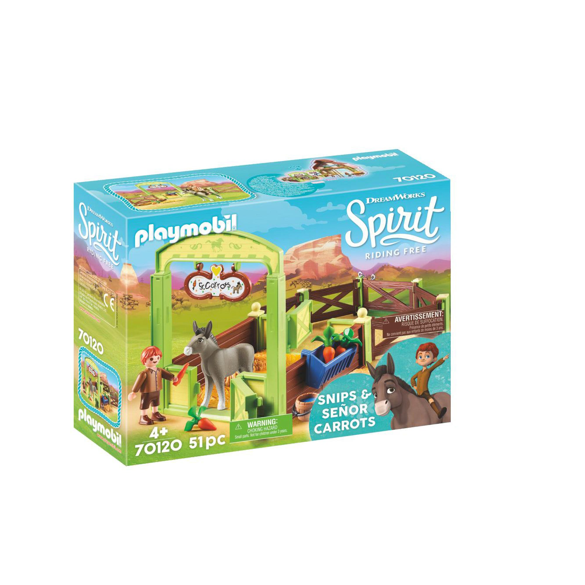 Playmobil DreamWorks Spirit 70120 Snips And Senor Carrots
