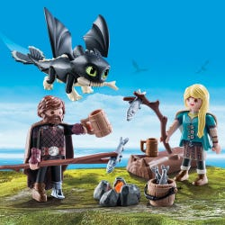 Playmobil Hiccup and Astrid with Baby Dragon 70040
