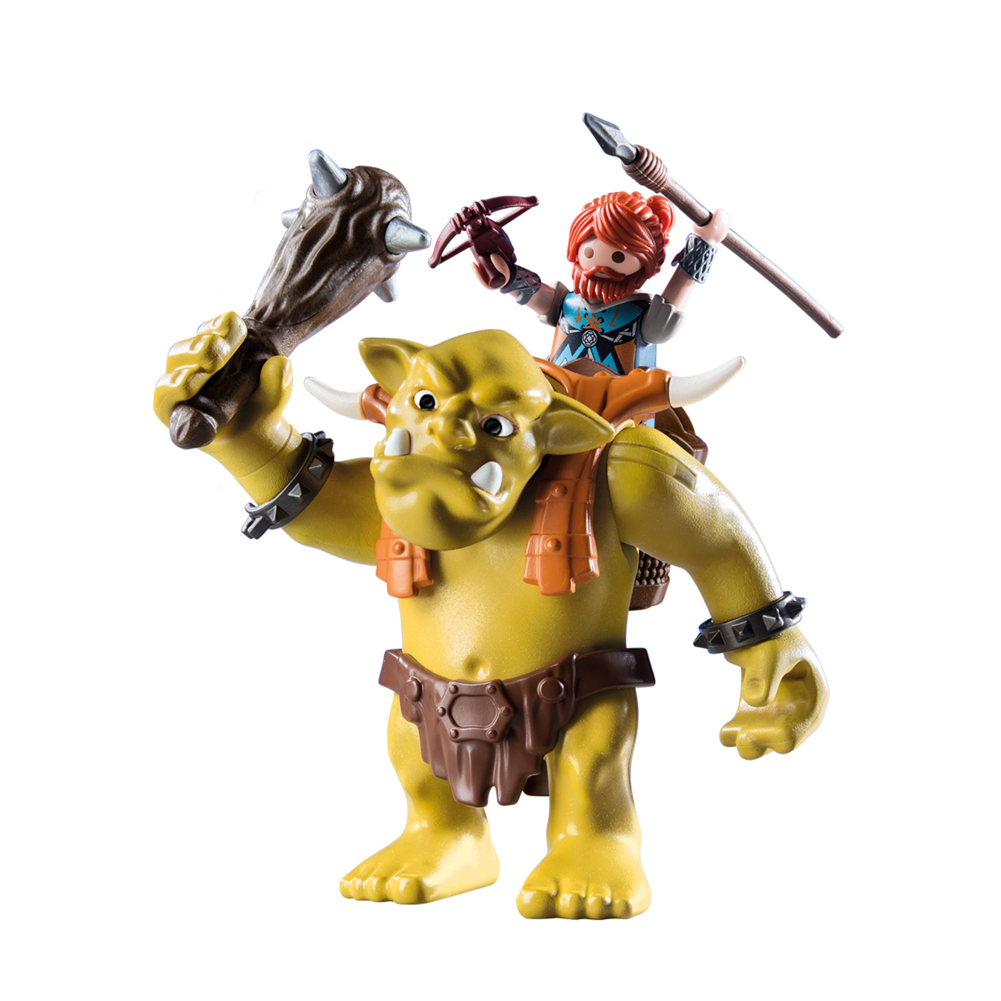 Playmobil 9343 Knights Giant Troll With Dwarf Fighter With Removeable Backpack