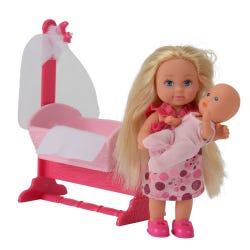 Evi Love Doll & Cradle Playset