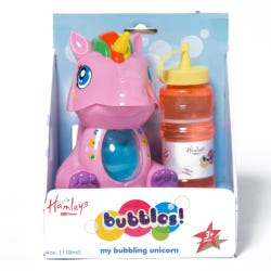 Hamleys Unicorn Bubble Machine White/Pink Ass