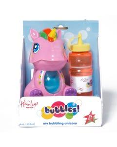Hamleys Unicorn Bubble Machine White/Pink Ass