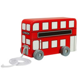 London Bus Pull Along Bus Toy