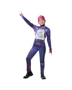 Fortnite Tween Brite Bomber Top and Snood Medium