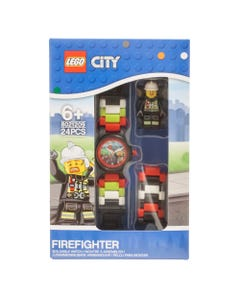 LEGO City Firefighter Figure Link Buildable Watch