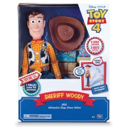 Toy Story 4 Sheriff Woody Interactive Drop-Down Action