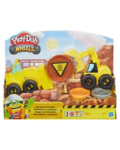 Play-Doh Wheels Gravel Yard Construction Toy Set