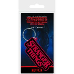Stranger Things Rubber Keychain - Logo
