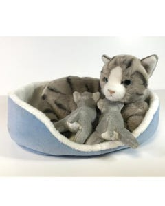 Hamleys Grey Tabby Mom & Babies