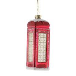 Red Glass Telephone Box 11cm