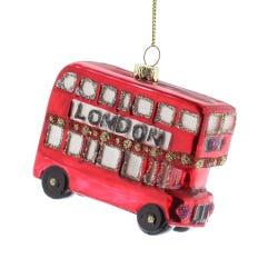 Glass London Bus 9cm