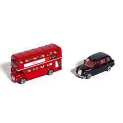 Hamleys London Bus & Black Taxi Set