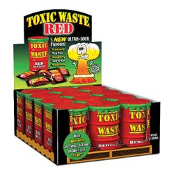 Toxic Waste Hazardously 'Red' Ultra Sour Candy Drum Assortment - 1pc
