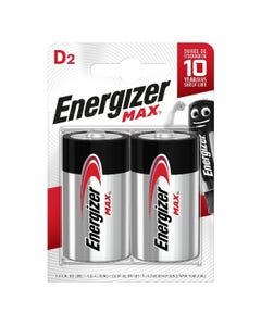 Energizer Max D 2 Pack