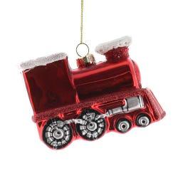 Glass Red Train 6cm