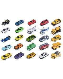 """Ralleyz 3"""" Die Cast Car 25 Pack Asst Vehicles"""