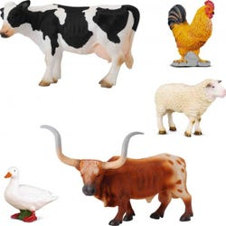 Farm Life Animals Box Set 5Pcs