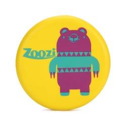 Zoozi Flying Disc Bear Frisbee Yellow