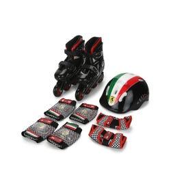 Ferrari Kids Hard Boots Skates Combo Black M