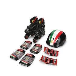 Ferrari Black Inline Skate Combo Set - M