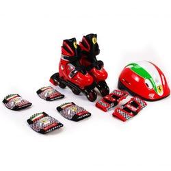Ferrari Kids Hard Boots Skates Combo Red M
