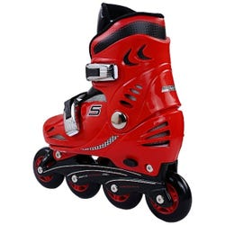 Ferrari Kids Hard Boots Skates Combo Red S