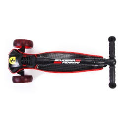 Ferrari Foldable Led Twist Scooter - Black