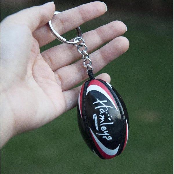 Hamleys Rugby Keychain Black Asst
