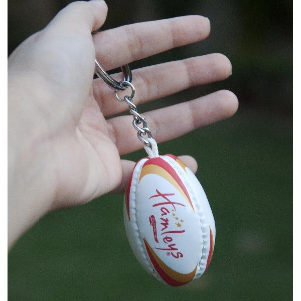 Hamleys Rugby Keychain White Asst