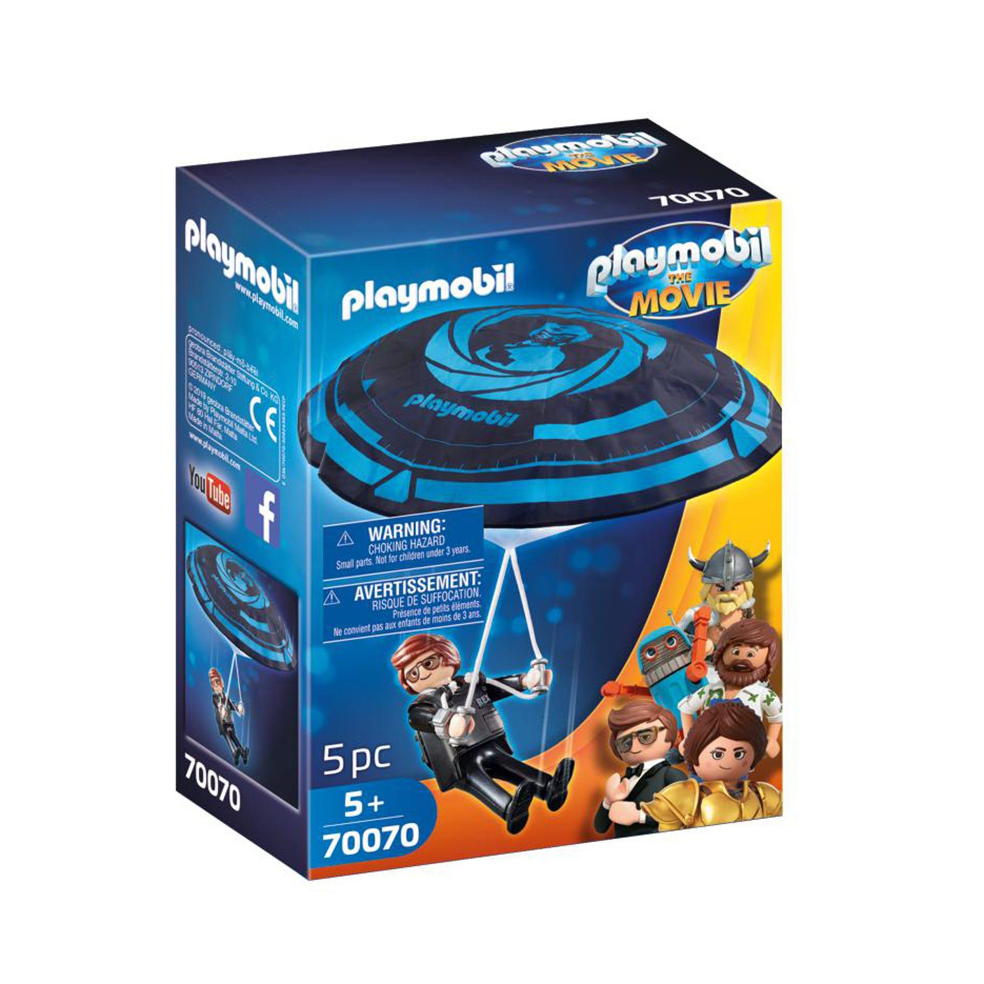 Playmobil 70070 Playmobil: THE MOVIE Rex Dasher With Parachu