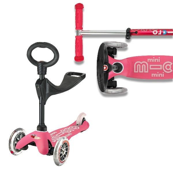 Micro Scooters   Mini Micro 3 IN 1 Deluxe Plus Ride On Kick
