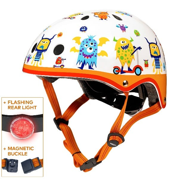 Micro Scooters   Patterned Deluxe Helmet Monster   Medium