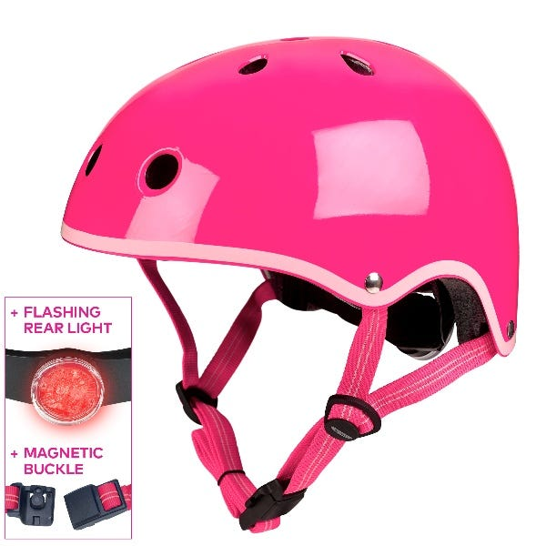 Micro Scooters   Plain Deluxe Helmet Neon Pink   Small