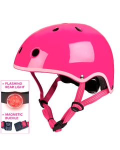 Micro Scooters - Plain Deluxe Helmet Neon Pink - Small