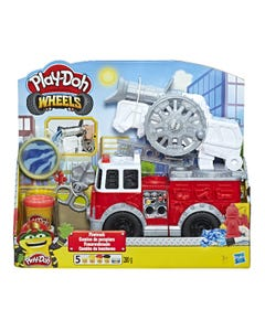 Play-Doh Wheels Fire Truck Toy with 5 Non-Toxic Colours