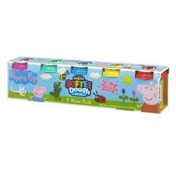 Peppa Pig 5 Tub Softee Dough Value Pack