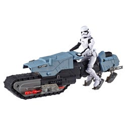 Star Wars Galaxy of Adventures First Order Driver and Treadspeeder and Vehicle