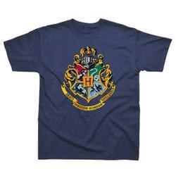 Harry Potter Hogwarts Crest Children's Navy T-Shirt Age 7-8
