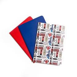 Hamleys Hello London Notebook Set of 3 - Hello London/Blue/Red