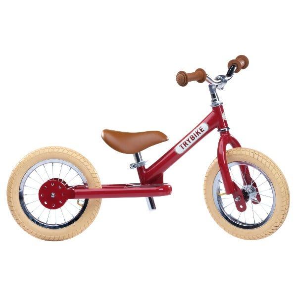 Trybike   Steel 2 In 1 Balance Trike / Bike Vintage Red