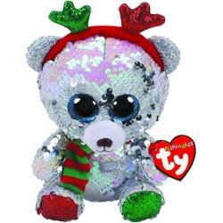 TY Mistletoe Bear Flippable