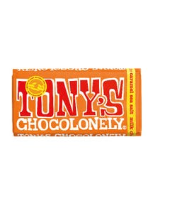 Tony's Fairtrade Milk Chocolate Caramel and Sea Salt