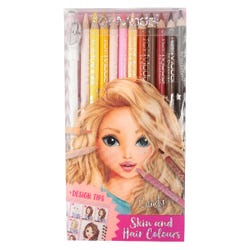 TOPModel Coloured Pencil Set (Skin And Hair Colours) Asst