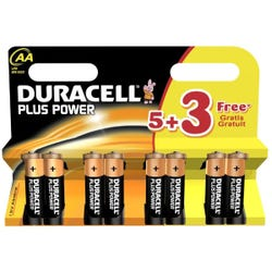 Duracell AA5+3 Plus Power