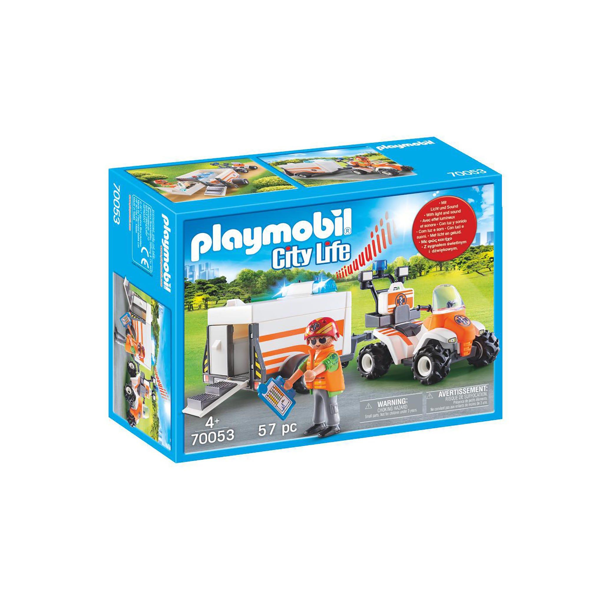 Playmobil 70053 City Life Rescue Quad With Trailer