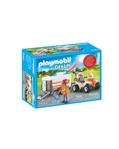 Playmobil 70053 City Life Rescue Quad with Trailer
