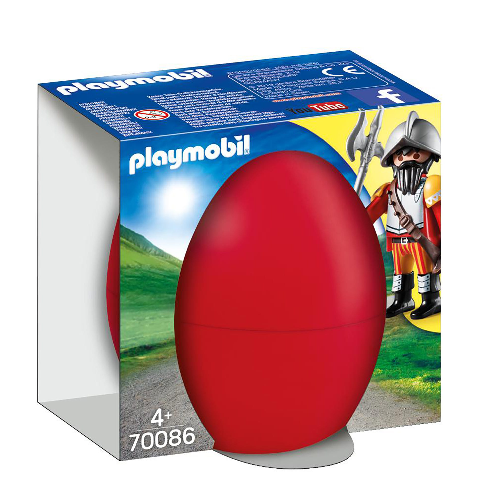 Playmobil 70086 Knight With Cannon Gift Egg